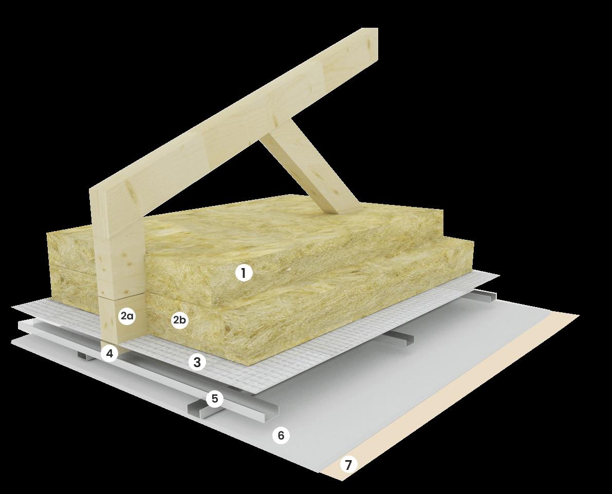 Stropní konstrukce přízemního domu cca 385- 485 mm